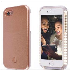 Accessories - Rose gold light up selfie phone case